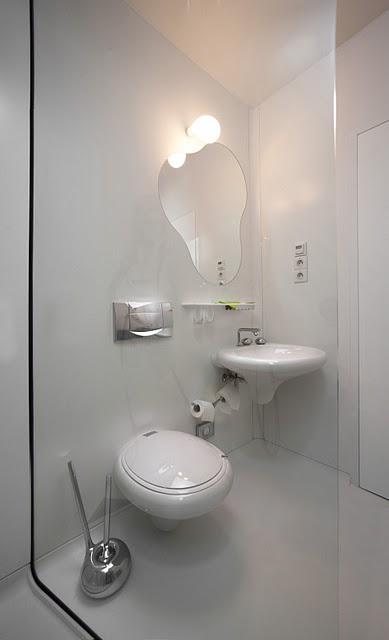 Bílá koupelna Barbarella asprchový kout - umělý kámen LG Hi-Macs