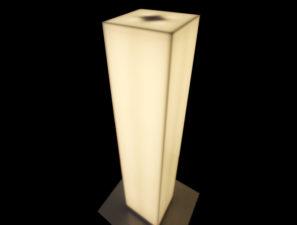 Designová stojací lampa - umělá kámen LG Hi-Macs