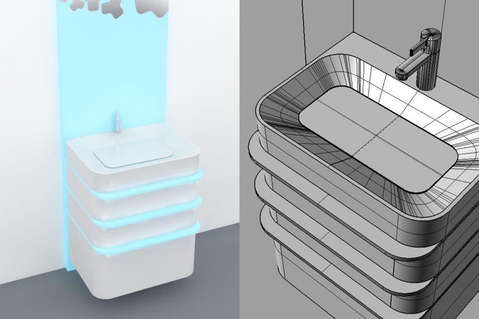 Koupelnový set AquaLight - umělý kámen Avonite