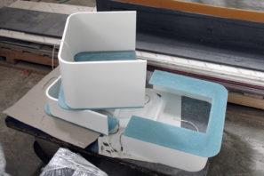 Výroba koupelnového nábytku AquaLight - umělý kámen Avonite
