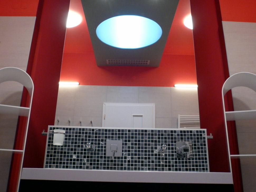 Bílý koupelnový stojan - umělý kámen LG Hi-Macs
