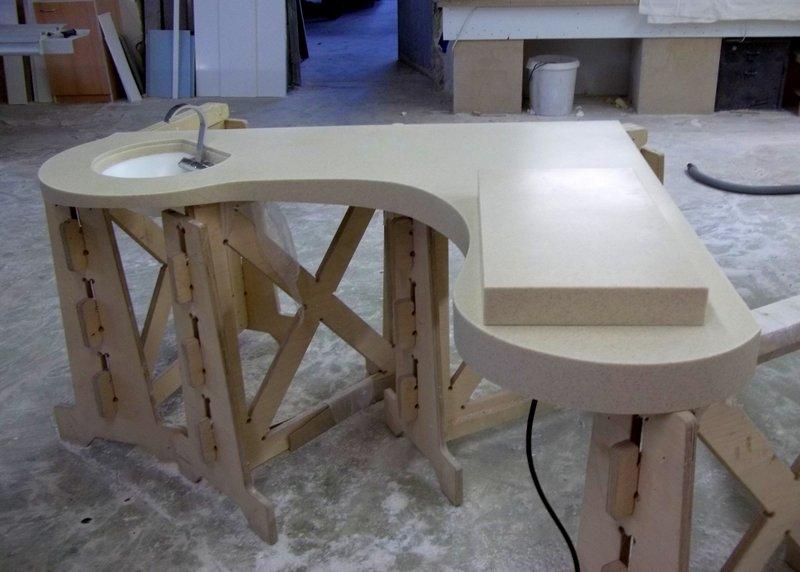 Kuchyňská pracovní deska, dřez agril - umělý kámen LG Hi-Macs