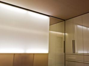 Prosvícená oddělovací stěna - umělý kámen LG Hi-Macs