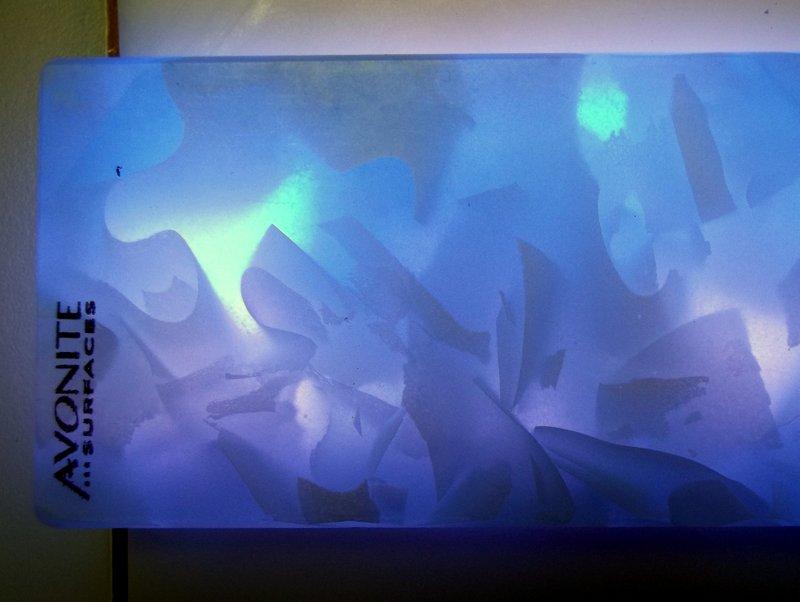 Světelné efekty umělého kamene