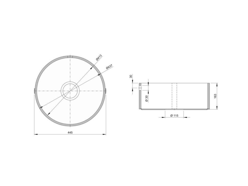 Rozměry kuchyňského dřezu ACCIO P413 zumělého kamene